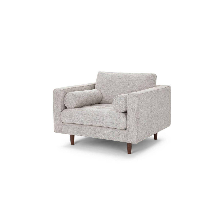 Кресло Sven, светло-серое