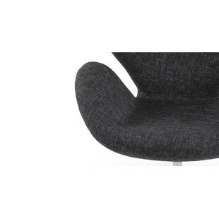 Кресло Swan черного цвета, тканевая обивка