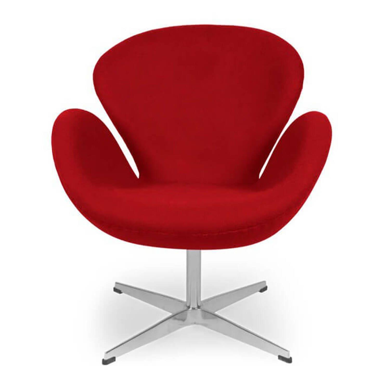 Красное кресло Swan