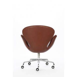 Коричневое офисное кожаное кресло Swan