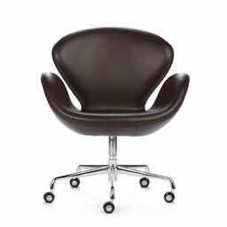 Офисное кожаное кресло Swan цвета шоколад