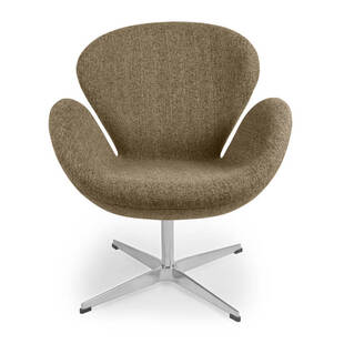 Кресло Swan коричневого цвета, тканевая обивка