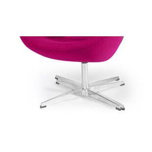 Розовое кресло Swan, тканевая обивка
