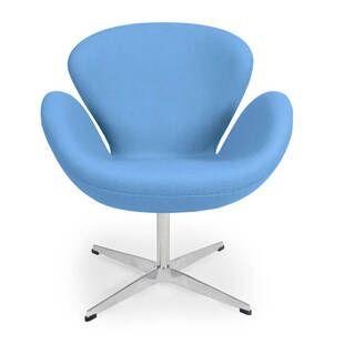 Кресло Swan синего цвета , тканевая обивка