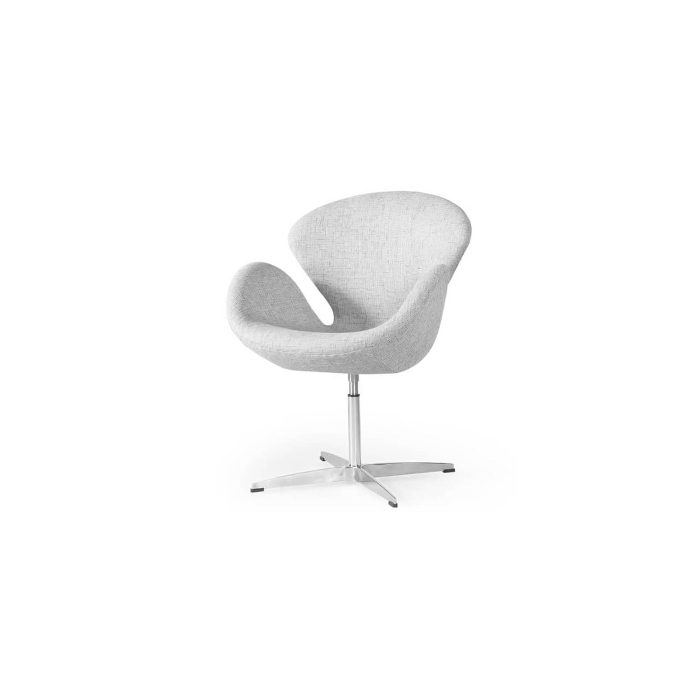 Кресло Swan серого цвета, тканевая обивка
