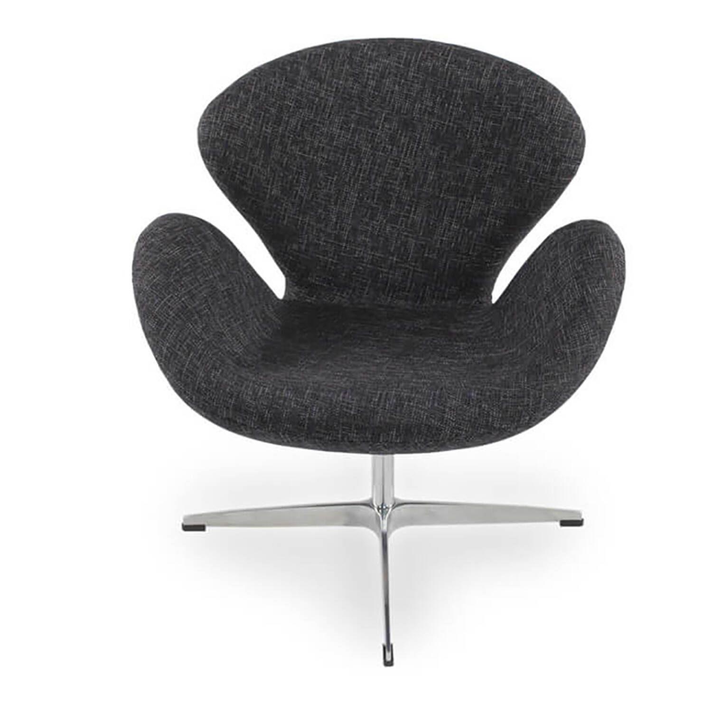 Темно-серое  кресло Swan