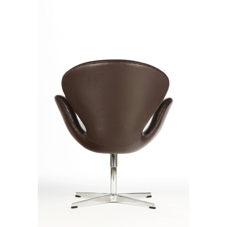 Темно-коричневое кожаное кресло Swan купить