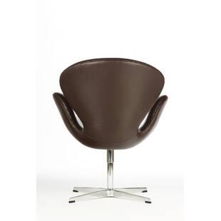 Темно-коричневое кожаное кресло Swan