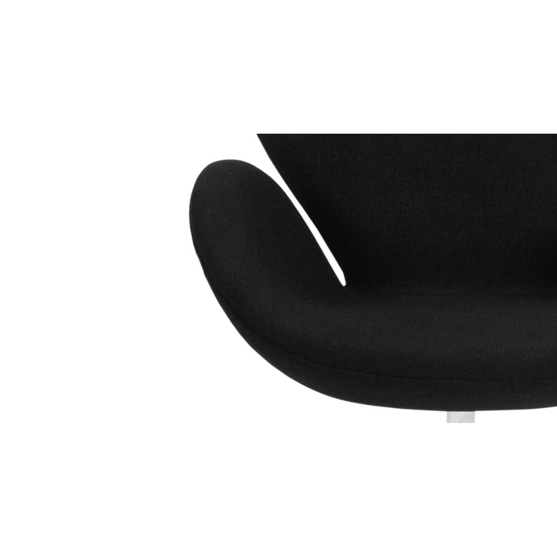 Черное кресло Swan, тканевая обивка