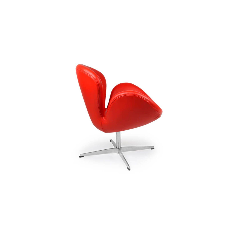 Красное кожаное кресло Swan