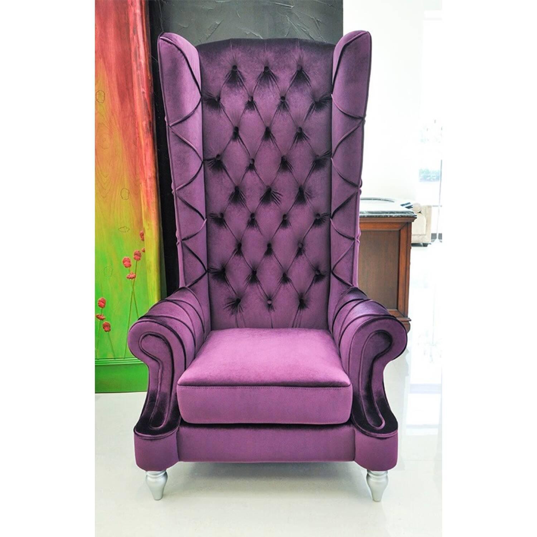 Кресло Baroque High Back, фиолетовое