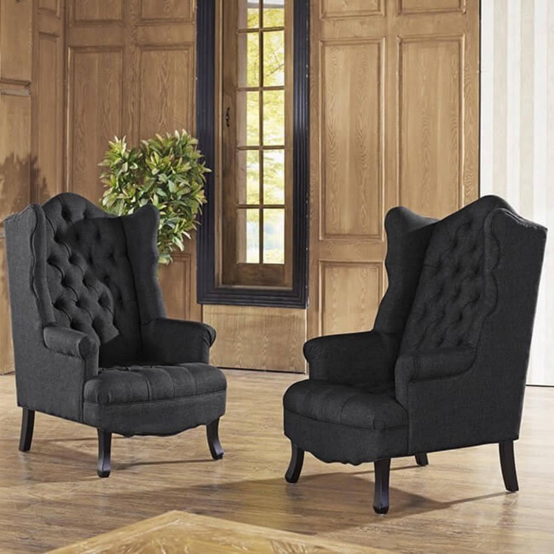 Кресло трон с ушами Madison, бежевое