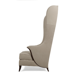 Бежевое кресло трон с ушами и высокой спинкой Sovrano High Back