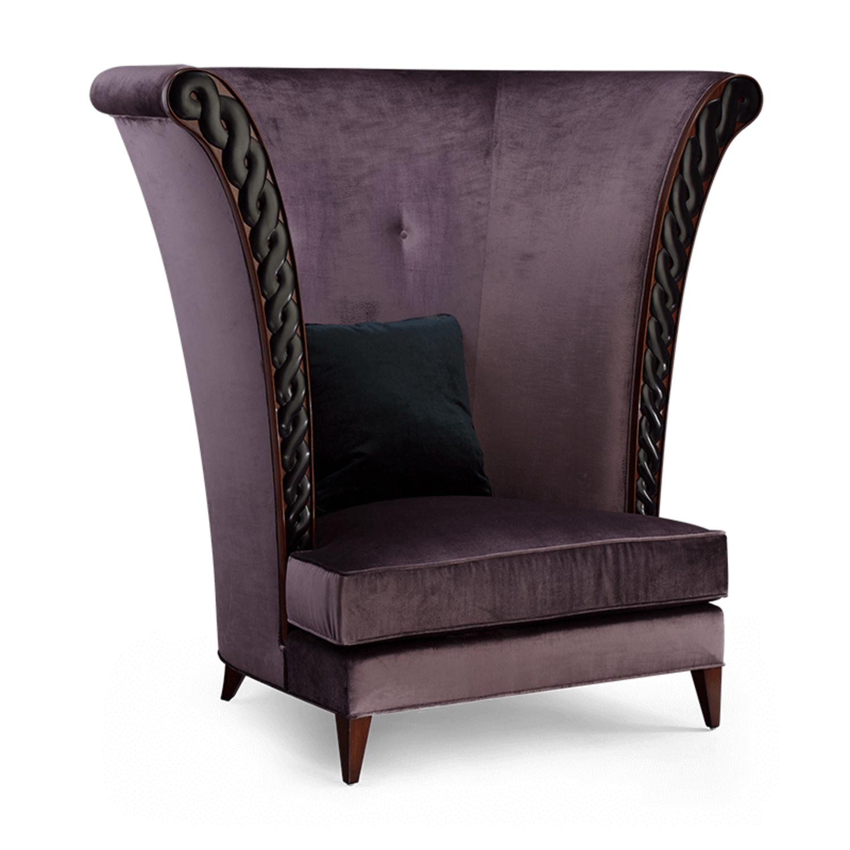 Кресло трон с высокой спинкой Verbier