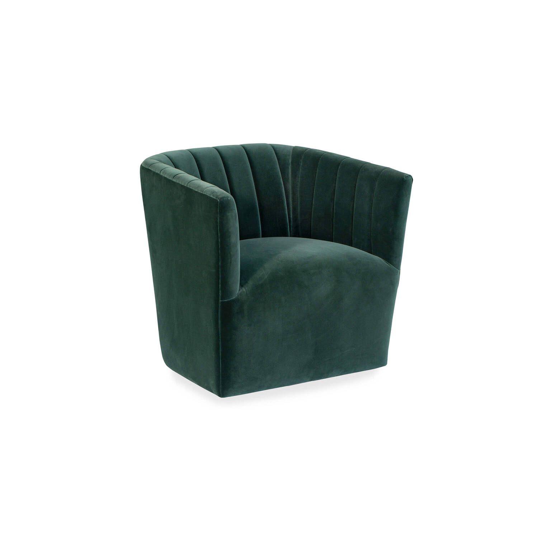 Кресло Tubby в современном стиле, зеленое