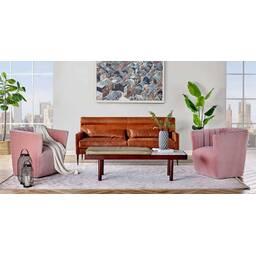 Кресло Tubby, розовое
