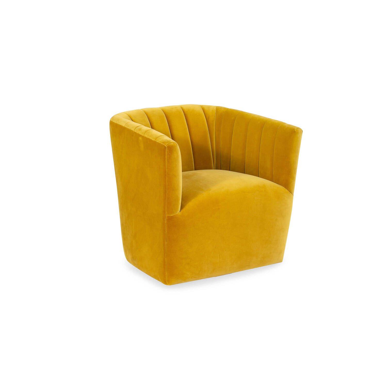Кресло Tubby в современном стиле, желтое