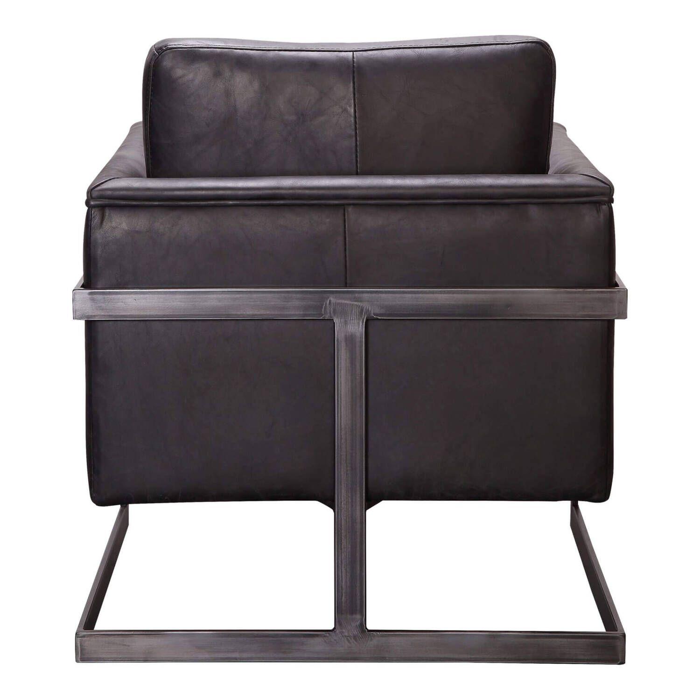 Кресло Luxley, кожаное, черное
