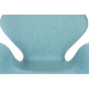 Голубое кресло Swan, тканевая обивка