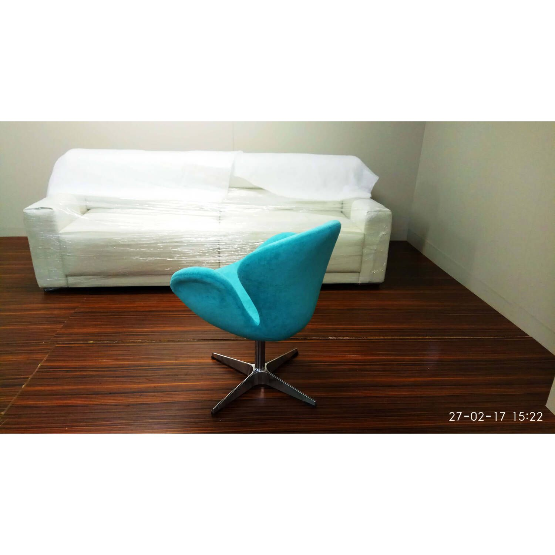 Бирюзовое кресло Swan