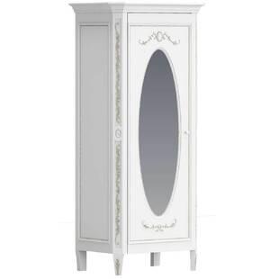"""Шкаф однодверный с овальным зеркалом """"Будуар"""""""