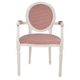"""Кресло с обивкой в клетку """"Снежный Прованс"""""""