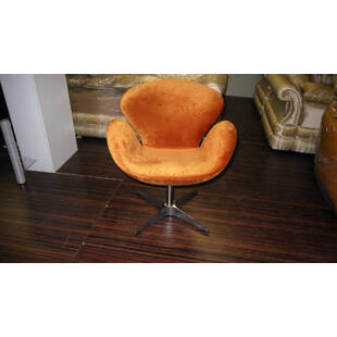 Оранжевое кресло Swan, тканевая обивка