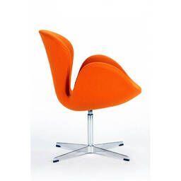 Оранжевое кресло Swan, тканевая обивка купить