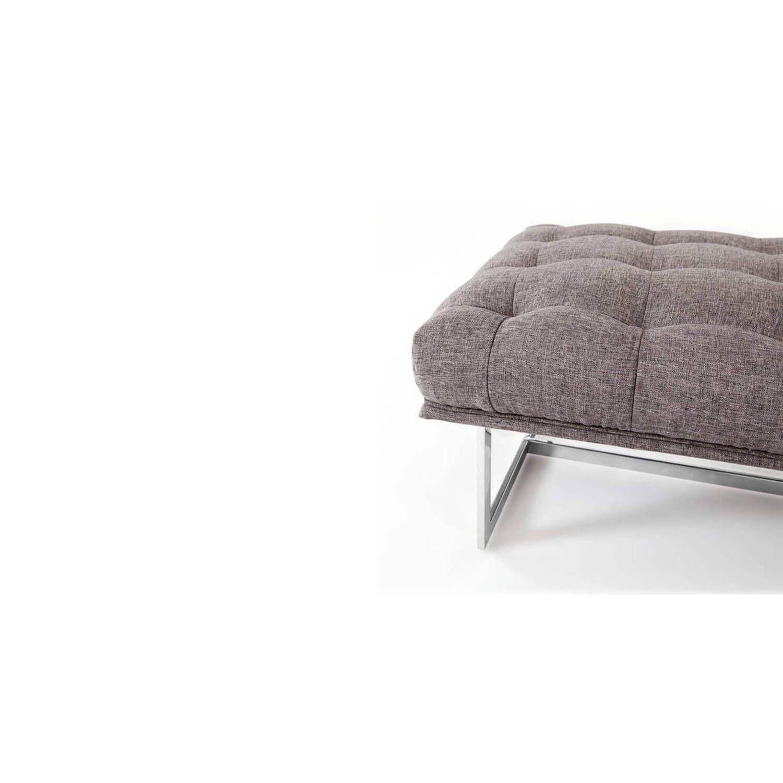 Дизайнерская серая банкетка Edward в стиле модерн