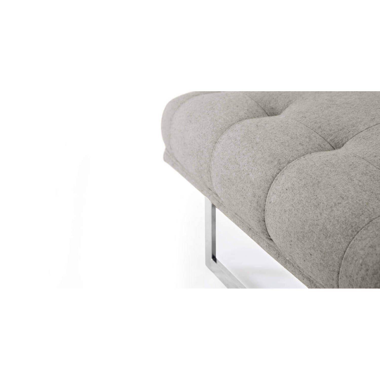 Дизайнерская светло-серая банкетка Edward в стиле модерн