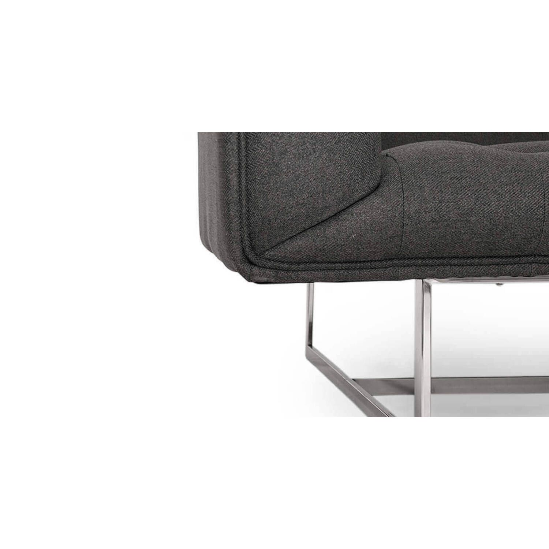 Дизайнерская темно-серая банкетка Edward в стиле модерн