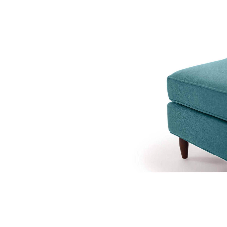 Дизайнерский бирюзовый пуф Eleanor, в стиле классический модерн