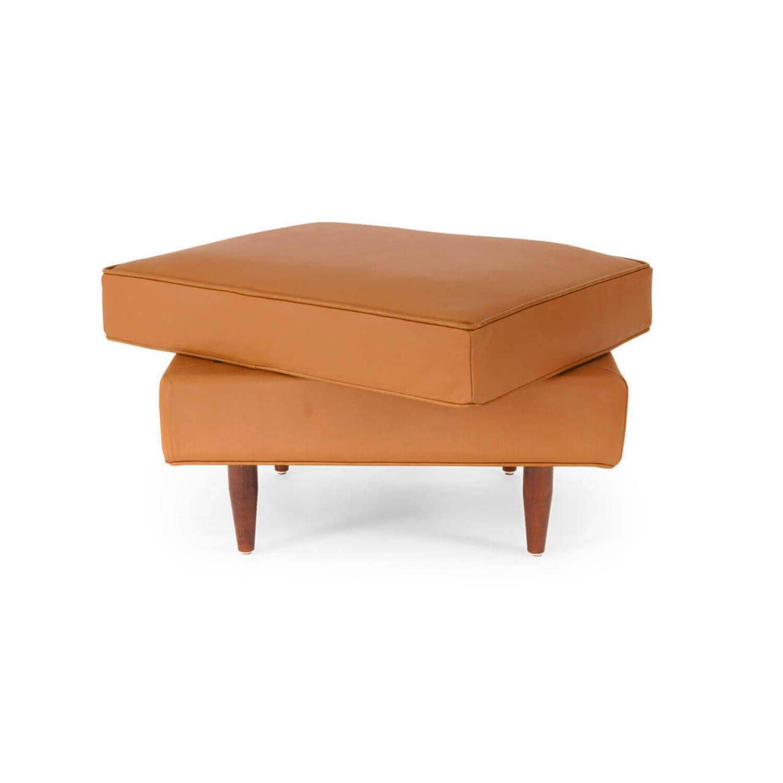 Пуф Eleanor, оранжевый кожаный