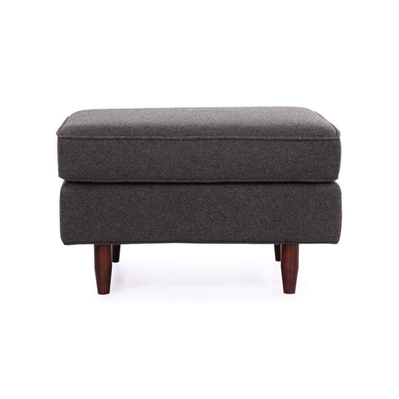 Дизайнерский темно-серый пуф Eleanor, в стиле классический модерн