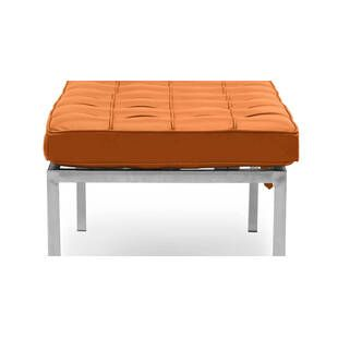 Банкетка Florence оранжевая двухместная, экокожа