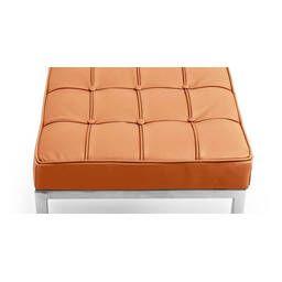 Банкетка Florence оранжевая кожаная трехместная