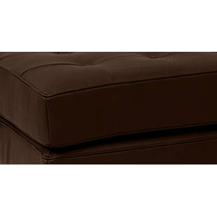 Пуф Florence, коричневый кожаный