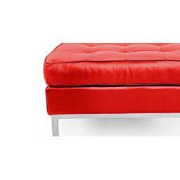 Пуф Florence, красный кожаный