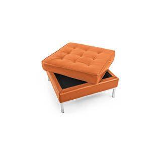Пуф Florence, оранжевый, экокожа