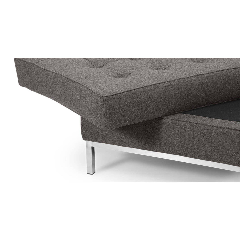 Дизайнерский пуф Florence, серый, в стиле Классический модерн с элементами стиля Лофт.