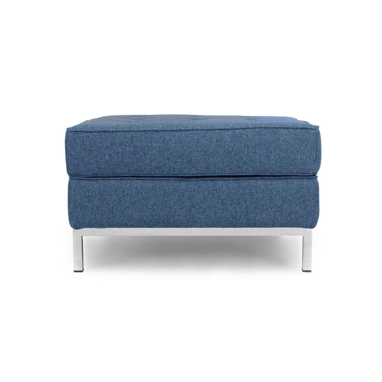 Дизайнерский пуф Florence, синий, в стиле Классический модерн с элементами стиля Лофт.