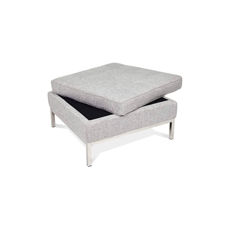 Дизайнерский пуф Florence, светло-серый, в стиле Классический модерн с элементами стиля Лофт.