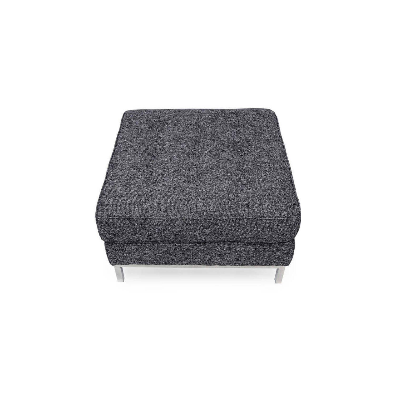 Дизайнерский пуф Florence, темно-серый, в стиле Классический модерн с элементами стиля Лофт.