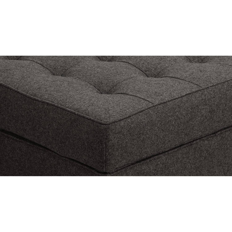 Дизайнерский пуф Florence, черно-серый, в стиле Классический модерн с элементами стиля Лофт.