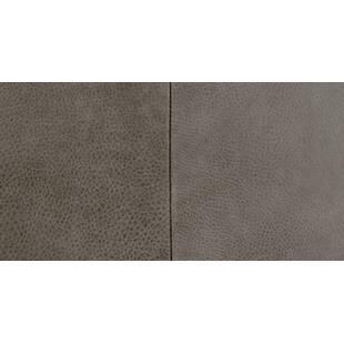 Пуф Tablet, серый кожаный