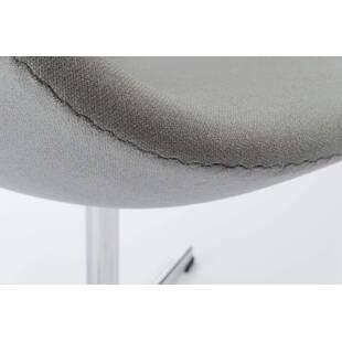 Серое кресло Swan, тканевая обивка