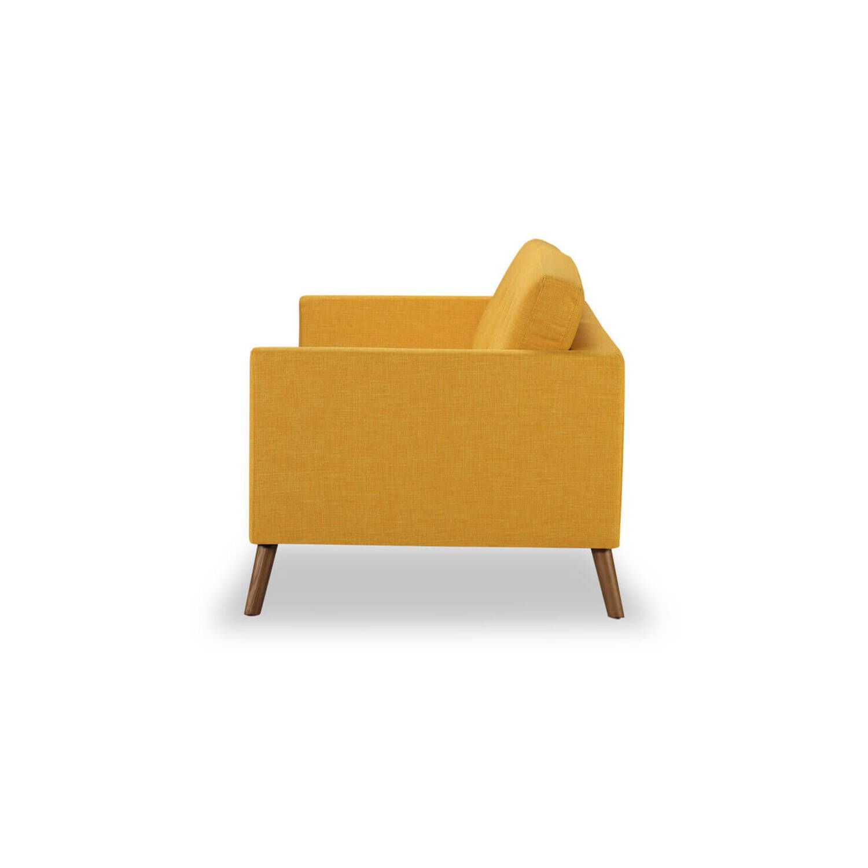 Дизайнерский прямой желтый диван Articulate, в стиле классический модерн