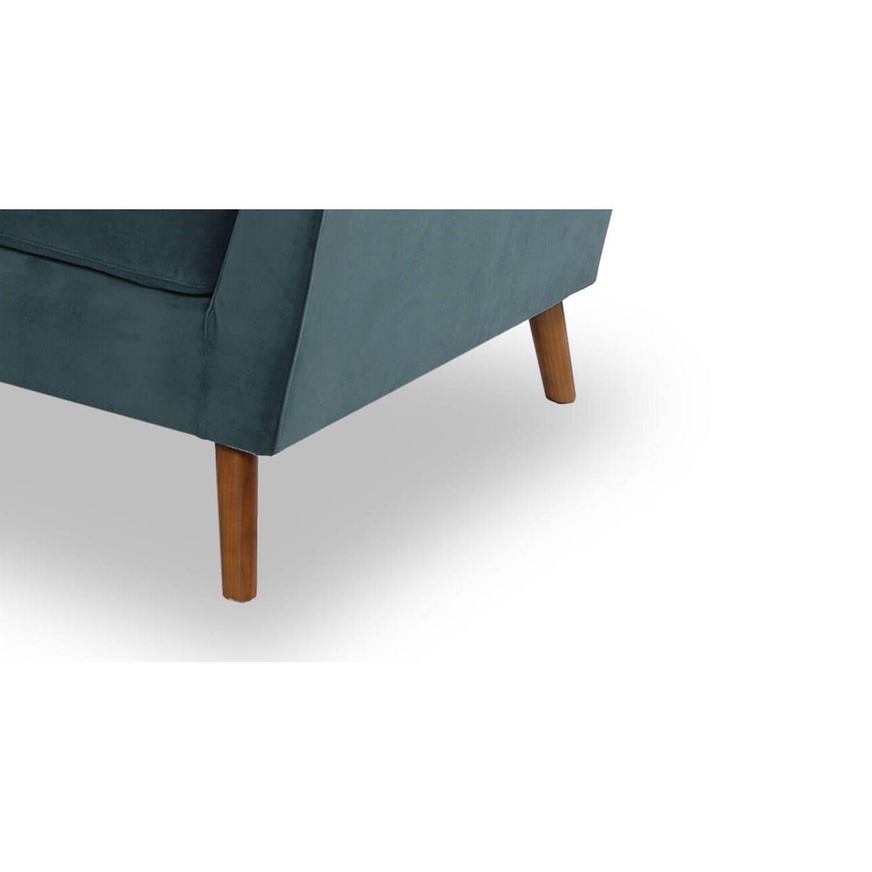 """Дизайнерский прямой диван Articulate, цвета """"морская волна"""", в стиле классический модерн"""