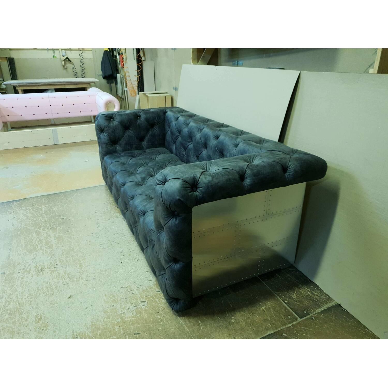 Дизайнерский прямой диван Aviator Chesterfield, черный