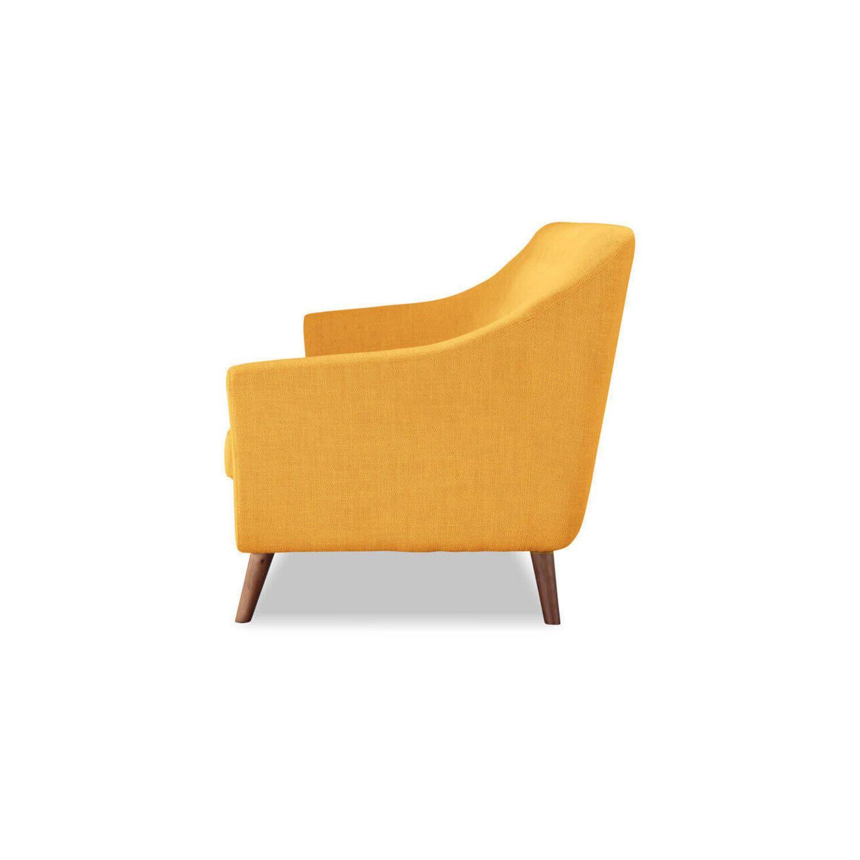 Дизайнерский прямой желтый диван Cameron, в стиле классический модерн